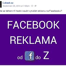 Reklama na Facebooku od F do Z